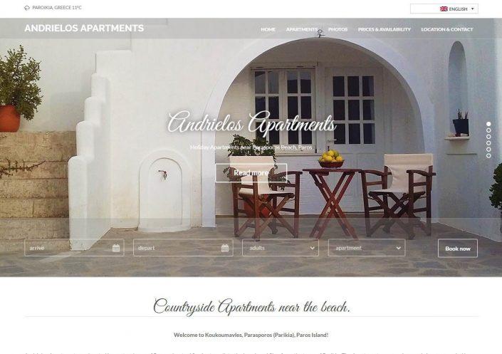Andrielos Apartments website