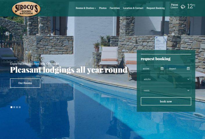 Sirocos Rooms website